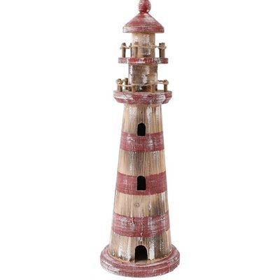 Typisch Hollands Lighthouse red / white washed 46cm