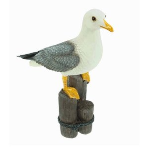 Typisch Hollands Seagull on stilts with glass eyes 33cm