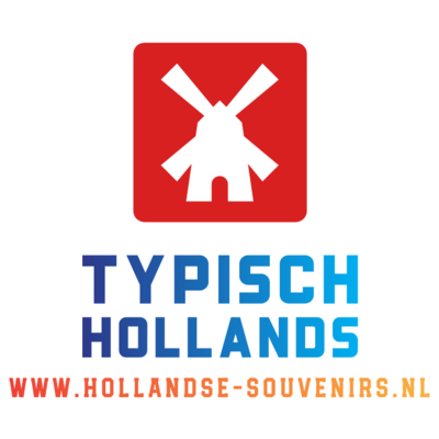 Typisch Hollands Clog slippers White Mill and Tulips