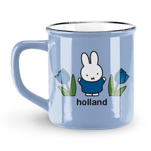 Nijntje (c) Holland Becher Miffy - Retro - Blau - Miffy (Tulpen)