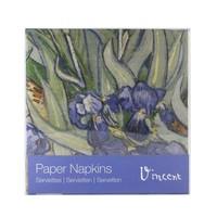 Typisch Hollands Luxe Servetten - van Gogh - Irissen + Ansichtkaart