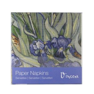 Typisch Hollands Luxury Napkins - van Gogh - Irises + Postcard