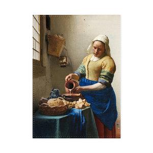 Typisch Hollands Theedoek - Het melkmeisje , Vermeer