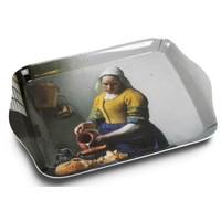 Typisch Hollands Mini-Tablett mit Vermeers Milchmädchen