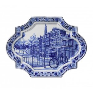 Heinen Delftware Wandbord - Delfts blauw-Applique Horizontaal