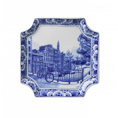 Typisch Hollands Wall plate - Applique Amsterdam square