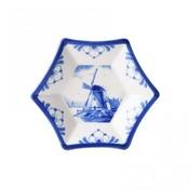 Stervormig schaaltje - Delfts blauw - Molen- klein