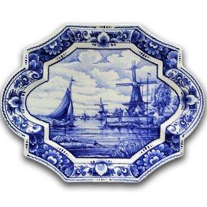 Heinen Delftware Applique - Holland - Molen Groot
