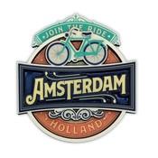 Typisch Hollands Magnet - Vintage Amsterdam Mach mit