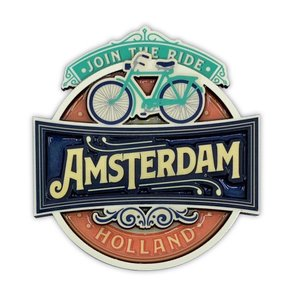 Typisch Hollands Magnet - Vintage Amsterdam Join The Ride