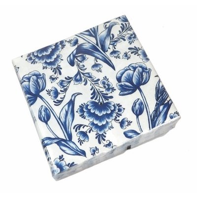 Typisch Hollands Servietten Delft blau Holland - Blumenmuster