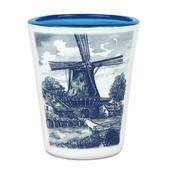 Typisch Hollands Shot-glas Nederlands molenlandschap