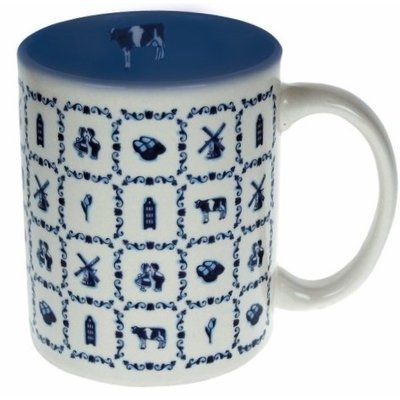 Typisch Hollands Holland coffee tea mug - Delft tiles