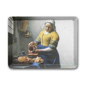 Typisch Hollands Dienblad van het Melkmeisje van Vermeer