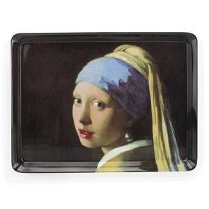 Typisch Hollands Dienblad van het Meisje met de parel  van Vermeer