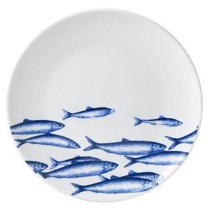 Wandbord - Vis - Delfts blauw
