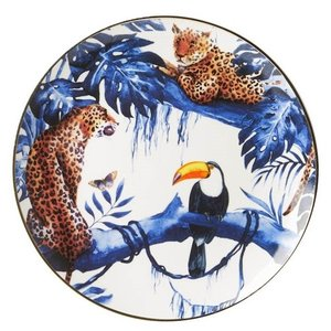 Heinen Delftware Wandbord - Delfts blauw in de Jungle