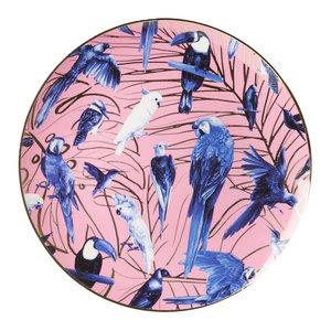 Heinen Delftware Wandbord -  Tropische Vogels