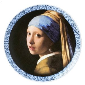 Typisch Hollands Wall plate -girl with a pearl earring - Modern Delft