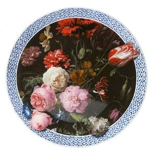 Heinen Delftware Wall plate Still life with flowers