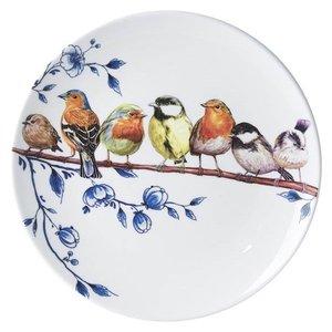Heinen Delftware Wandbord Vogels en Delfts blauw  (Bosvogels)