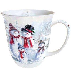 Typisch Hollands Kerst-mok  Sneeuwpop met hoed