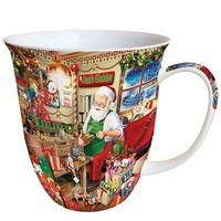 Typisch Hollands Santa's Workshop Christmas mug