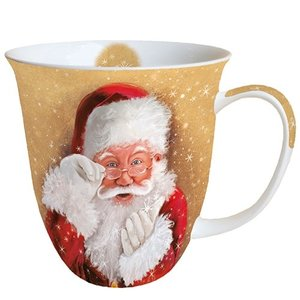 Typisch Hollands Christmas mug Here is Santa!
