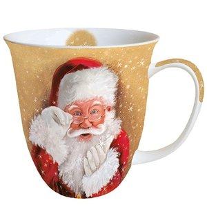 Typisch Hollands Kerst-mok  Hier is de kerstman!