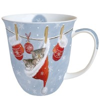 Typisch Hollands Christmas mug Kittens - Santa hat