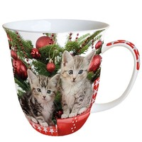Typisch Hollands Christmas mug Kittens christmas