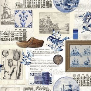 Typisch Hollands Napkins Delft blue Holland & Nostalgie
