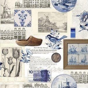 Typisch Hollands Servetten Delfts blauw Holland  & Nostalgie