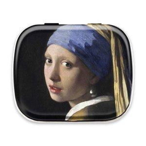 Typisch Hollands Mint blikje  Vermeer Meisje met de Parel