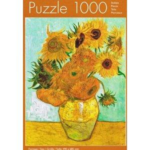 Typisch Hollands Puzzel in koker - Vincent van Gogh - Zonnebloemen - 1000