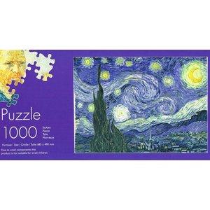 Typisch Hollands Puzzel in koker - Vincent van Gogh - Sterrennacht- 1000 stukjes