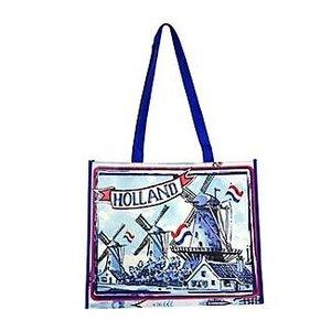 Typisch Hollands Luxe Shopper Holland - Molen - Rood-Wit Blauw