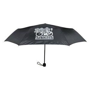 Typisch Hollands Paraplu Zwart - in opberg-etui Huisjes-Fiets Decoratie