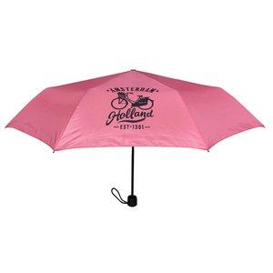 Typisch Hollands Paraplu Roze - in opberg-etui Fiets Decoratie ( Holland-Amsterdam)