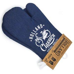 Typisch Hollands Oven handschoenen denim Holland 2 stuks