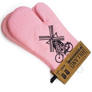 Typisch Hollands Oven gloves pink Holland 2 pieces