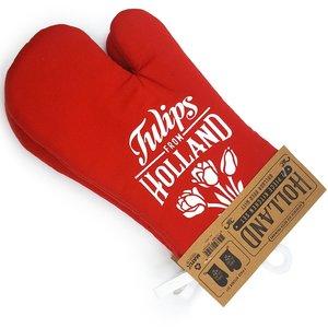 Typisch Hollands Oven handschoenen rood Holland 2 stuks