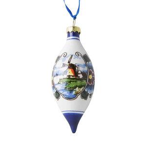 Heinen Delftware Kerst pegel landschap kleur