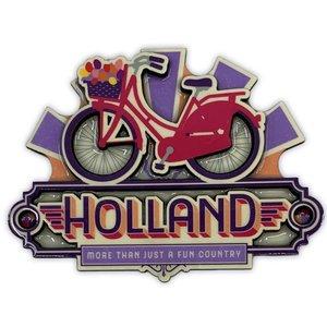 Typisch Hollands Magneet vintage Holland bike fun country