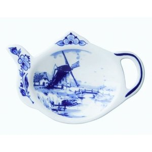 Heinen Delftware Theezakjeshouder - Delfts blauw ( Holland)