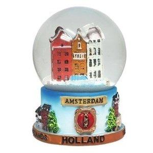 Typisch Hollands Snow globe Amsterdam medium size
