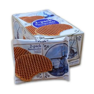 Typisch Hollands Stroopwafel packed per 2 pieces - Box - 10 packages