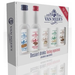 van Meers Gift box with Holland liqueurs - 5 sample bottles 50cl