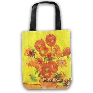 Typisch Hollands Boodschappen tas, van Gogh - Zonnebloemen.