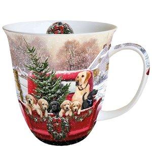 Typisch Hollands Christmas mug - Golden retrievers
